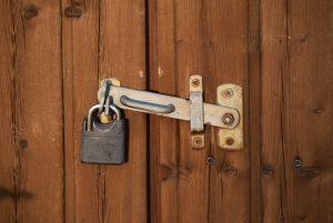 Lock on a door