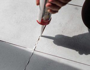 cracks in a floor