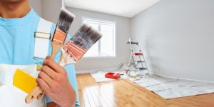 Paint the walls and do the finishing work