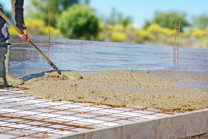 Pour the concrete slab